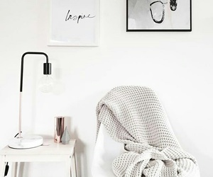 white, interior, and home image