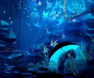 anime, art, and fish image