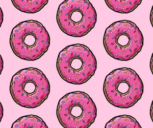 donut, pattern, and pink image