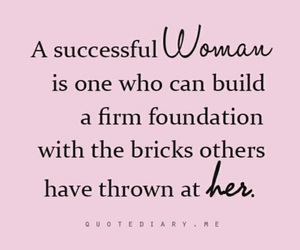 quotes, woman, and success image