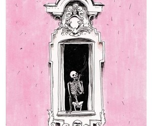 drawing, pink, and window image