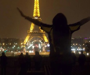 france, night, and torre eifel image