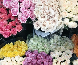 bouquet, flowers, and market image