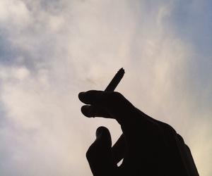 alone, cigarrete, and feelings image
