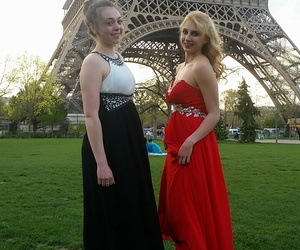 bal, blond, and promdress image