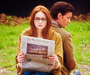 amelia, doctor who, and newspaper image