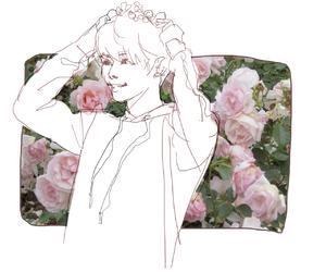 fanart, flowers, and Jonghyun image