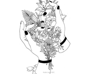 flowers, art, and hands image