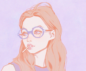 girl, art, and glasses image