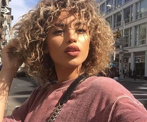 hair, curly, and tumblr image