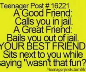 best friends, jail, and teenager post image