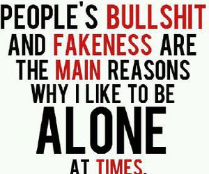 fake, alone, and quote image