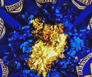 blue, bows, and cheer image