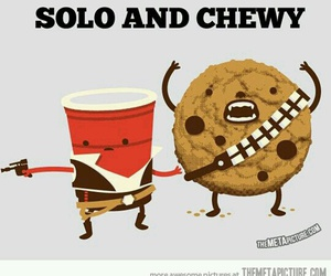 star wars, funny, and chewy image