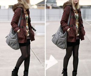 blonde, boots, and city image