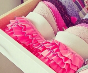 bras, girl, and pink image