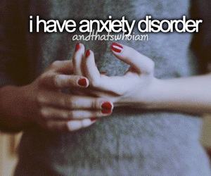 anxiety, disorder, and life image