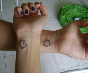 tattoo, puzzle, and life image