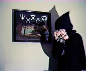 flowers, black, and death image
