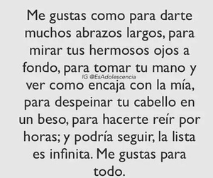 love, me gustas, and frases image