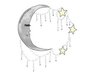 moon, stars, and tumblr image