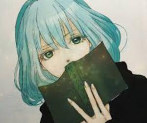 anime, book, and anime girl image