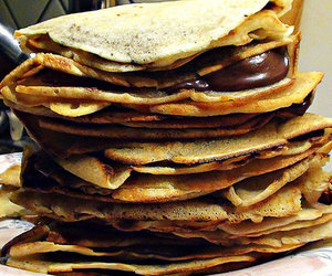 food, crepes, and nutella image