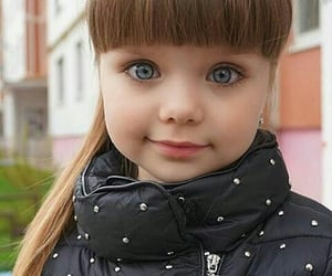 girl, baby, and eyes image