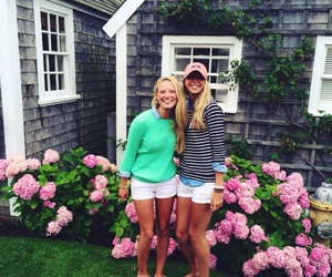 clothes, flowers, and Nantucket image