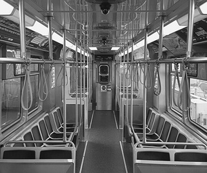 black and white, bus, and cool image