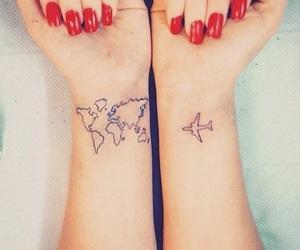 tattoo, travel, and plane image