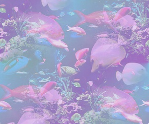 fish, pastel, and pink image