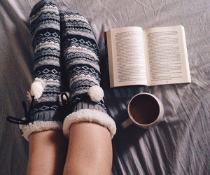 book, cosy, and winter image
