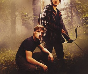 the hunger games, katniss everdeen, and peeta image