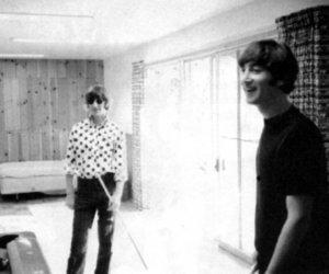 john lennon, ringo starr, and the beatles image