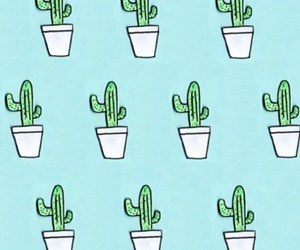 background, cactus, and pastel image