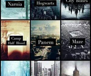 narnia, book, and hogwarts image