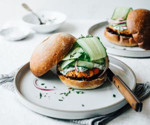 burgers, ginger, and salmon image