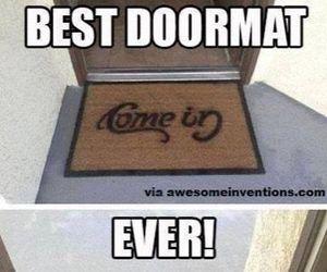 funny, doormat, and go away image