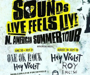 north america, hey violet, and summer tour image