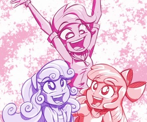 equestria girls, applebloom, and skootaly image