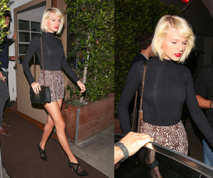 black, skirt, and Taylor Swift image