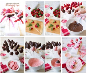 chocolate, strawberry, and pops image