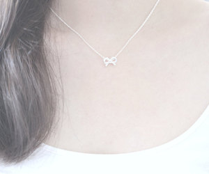 etsy, ribbon necklace, and dainty necklace image