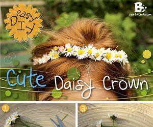 diy, diadema, and corona de flores image