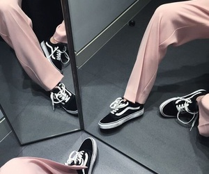 pink, vans, and fashion image