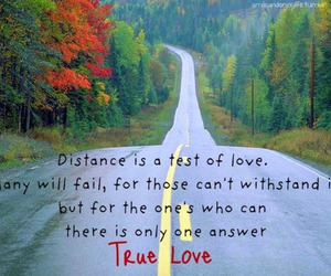 love, distance, and true image