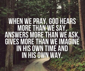 god, pray, and quote image