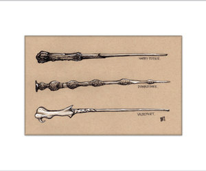 dumbledore, etsy, and harry potter image