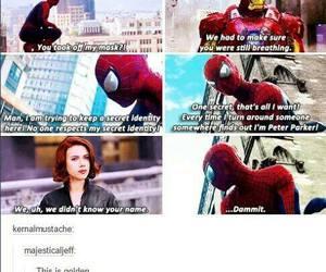 Marvel, spiderman, and black widow image